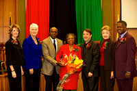 Humanitarian of the Year, Laura Johnson, joins supervisors for a photo