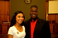 Supervisor Federal Glover joins a Youth Hall of Fame honoree, Maureen Gil