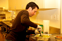 Pittsburg Council Member, Sal Evola, working in the kitchen